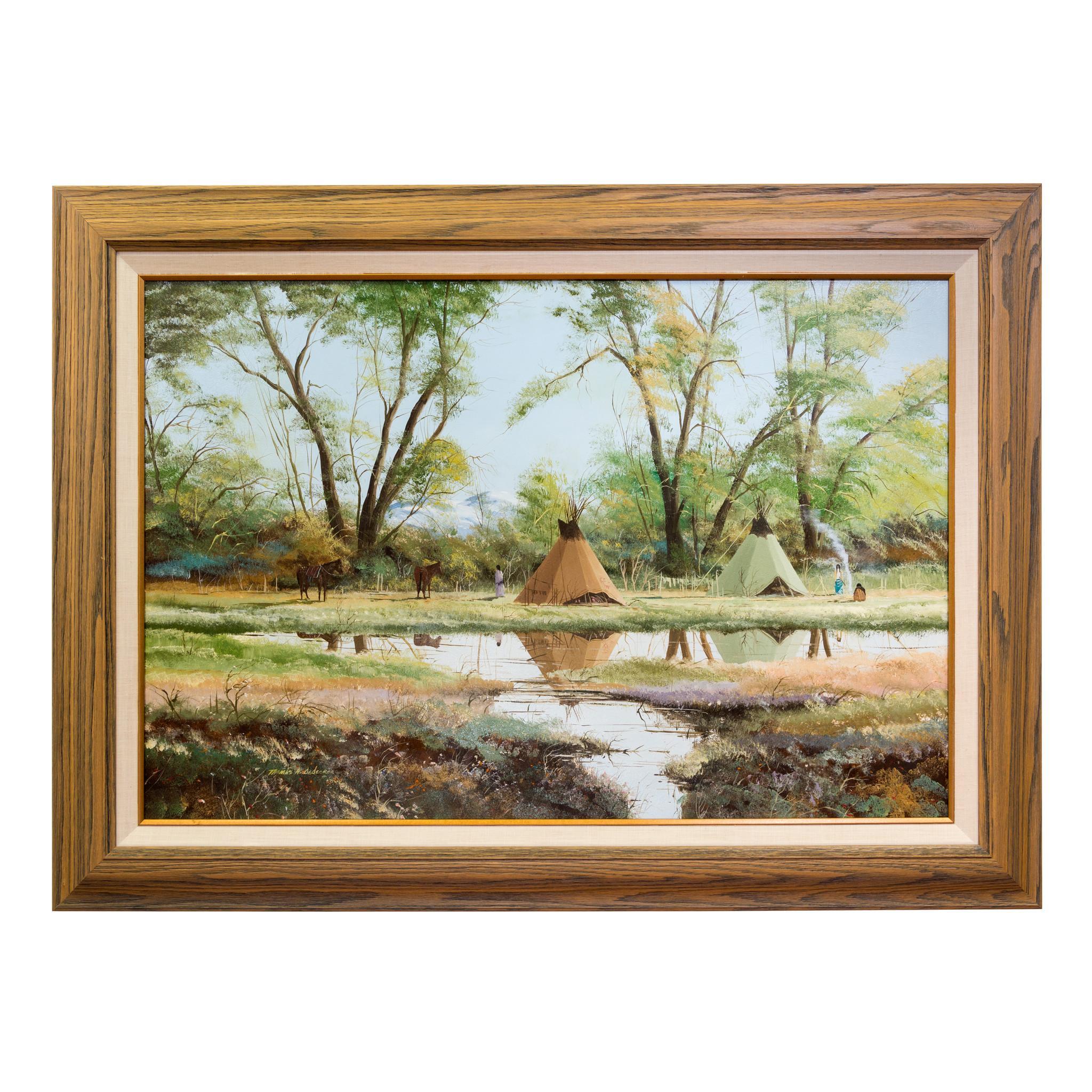 "Original Painting ""Spring Camp"" by Thomas DeDecker"