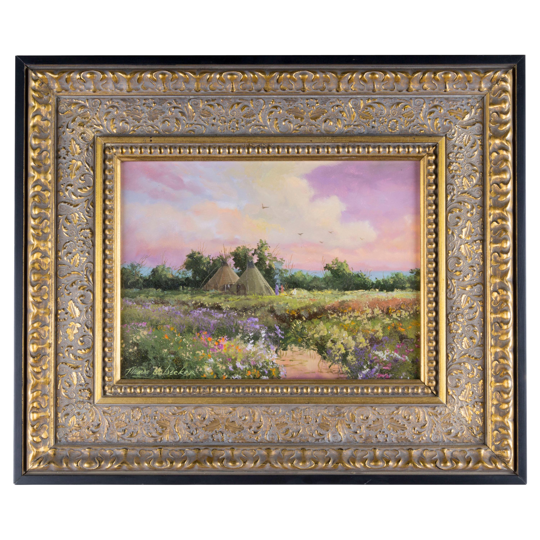 "Original Painting ""Spring Encampment"" by Thomas DeDecker"