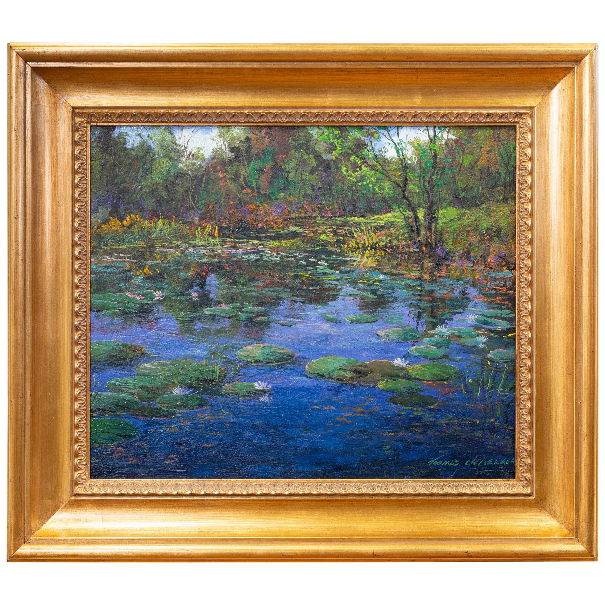 "Original Painting ""Spring Pond"" by Thomas DeDecker"
