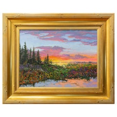 """Original Painting """"Tranquil Sunset"""" by Thomas deDecker"""