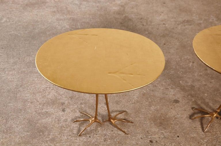 Original Pair of 1970s Meret Oppenheim Traccia Tables, Gavina, Italy For Sale 6