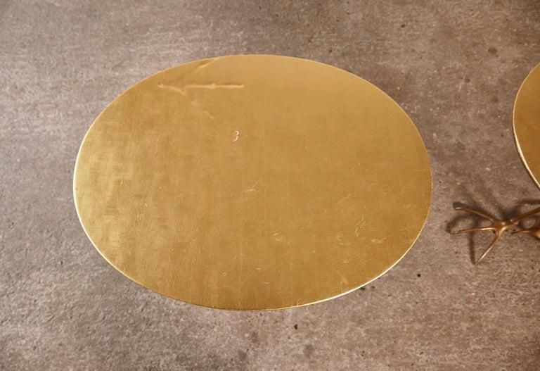 Original Pair of 1970s Meret Oppenheim Traccia Tables, Gavina, Italy For Sale 8