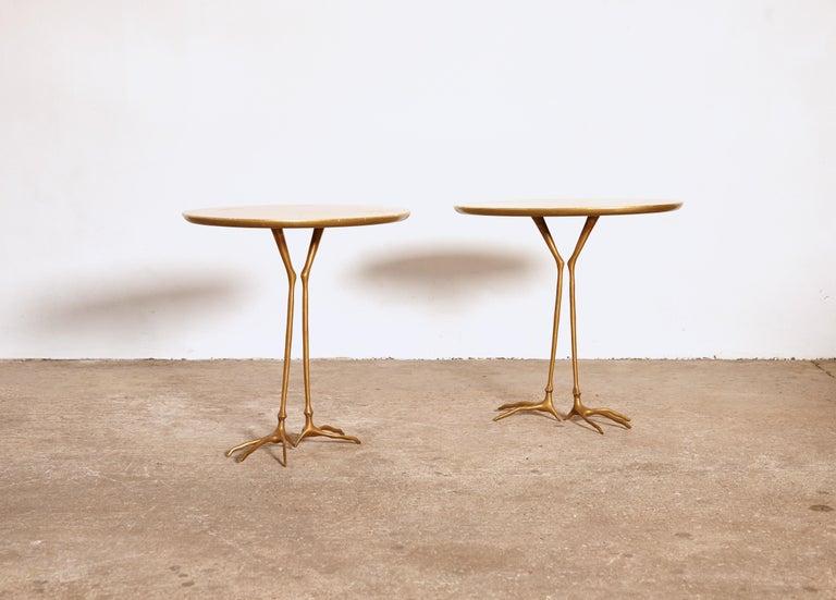 Mid-Century Modern Original Pair of 1970s Meret Oppenheim Traccia Tables, Gavina, Italy For Sale
