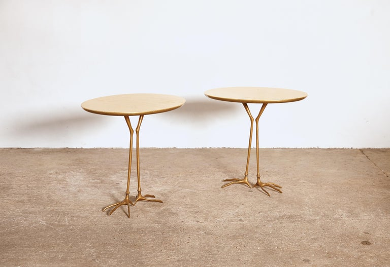 Original Pair of 1970s Meret Oppenheim Traccia Tables, Gavina, Italy For Sale 1
