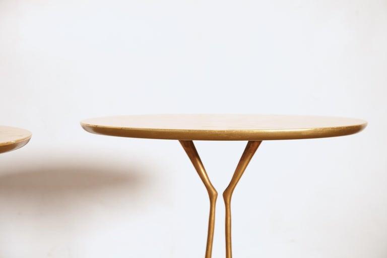 Original Pair of 1970s Meret Oppenheim Traccia Tables, Gavina, Italy For Sale 2