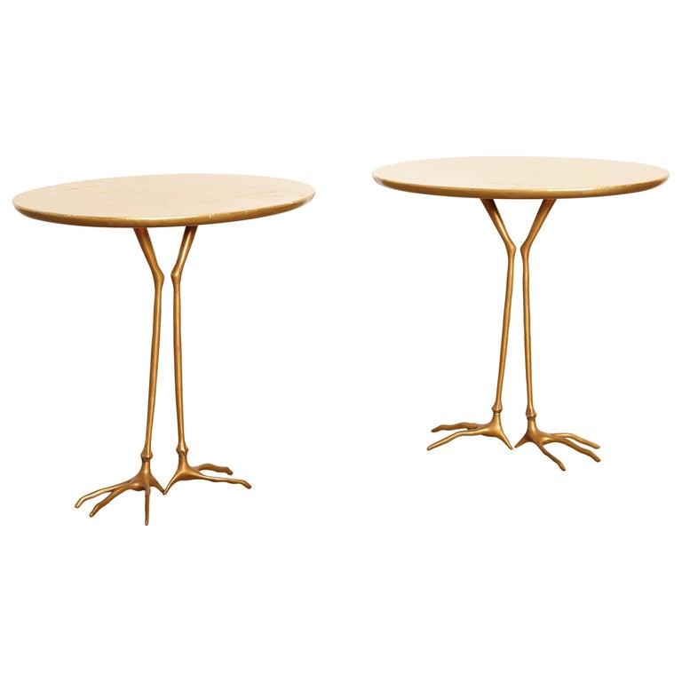 Original Pair of 1970s Meret Oppenheim Traccia Tables, Gavina, Italy For Sale