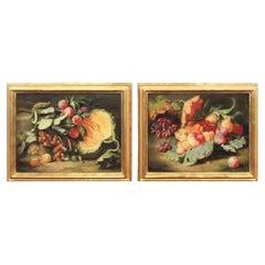 Original Pair of Dutch Master Style Still Life Oil Paintings
