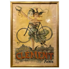 Original Pal Poster Cycles Clement Paris by Pneu Dunlop Framed