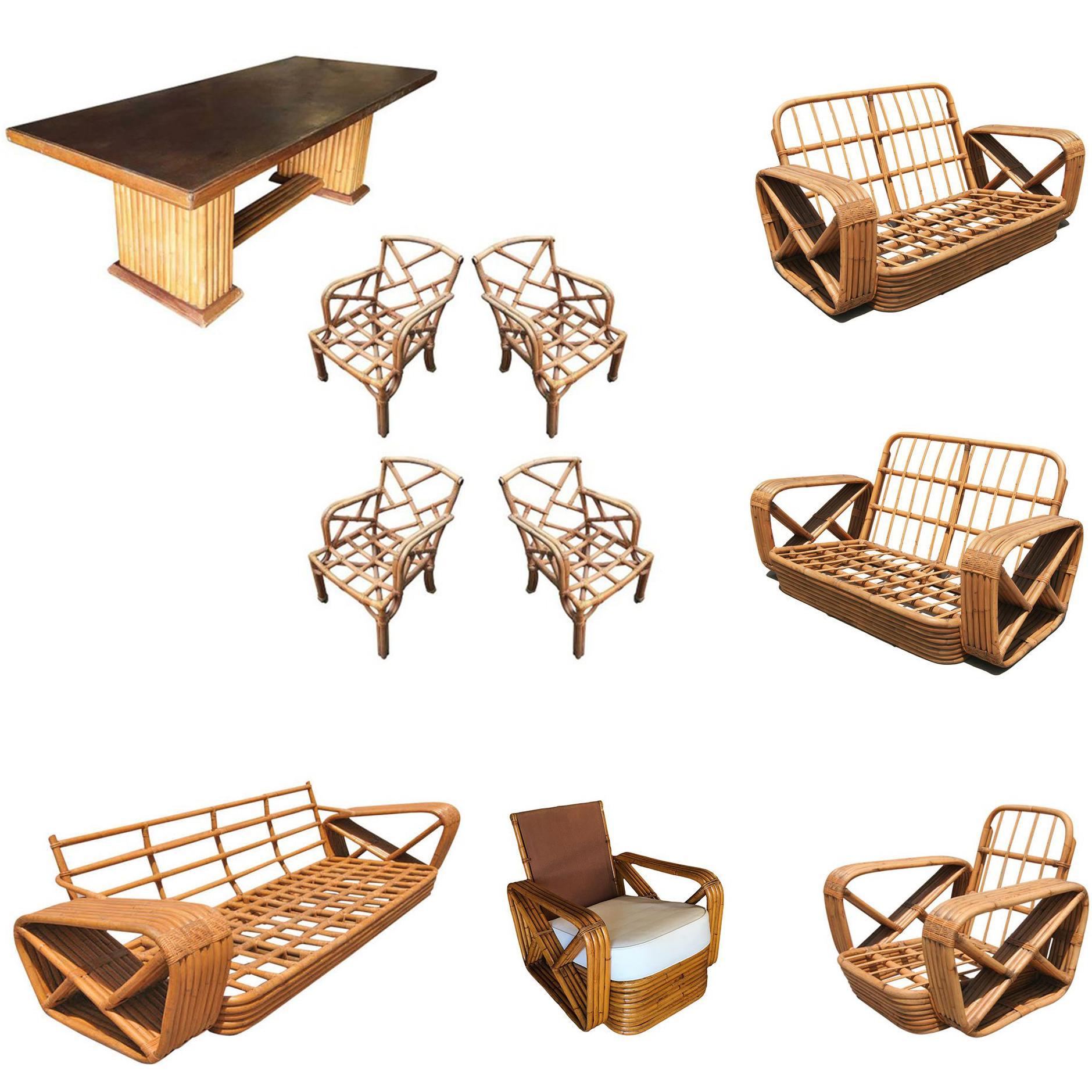 Original Paul Frankl Living and Dining Room Furniture Set