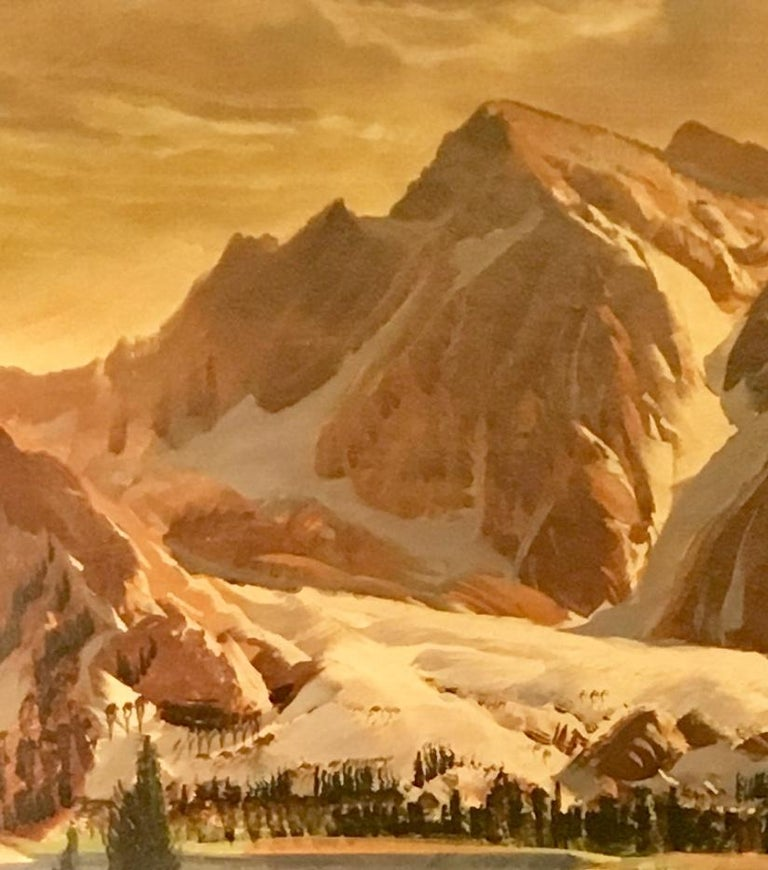 Other Original Paul Lauritz High Sierras Nine Lake Basin Early California Oil Painting For Sale