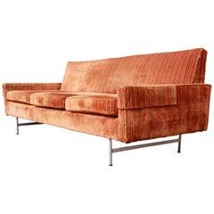 Original Paul McCobb Linear Group Sofa on Brass Legs, 1960s