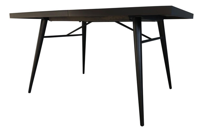 Mid-Century Modern Original Paul McCobb Planner Group Maple #1522 Black Dining Table For Sale