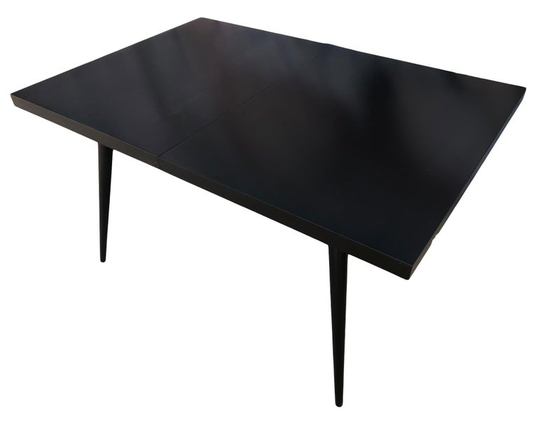 American Original Paul McCobb Planner Group Maple #1522 Black Dining Table For Sale