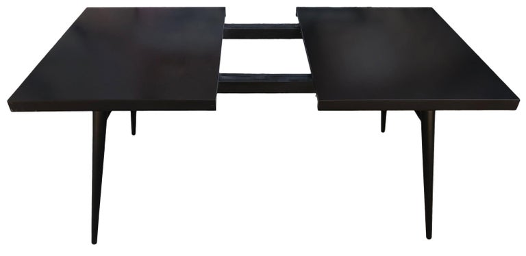 Original Paul McCobb Planner Group Maple #1522 Black Dining Table For Sale 1