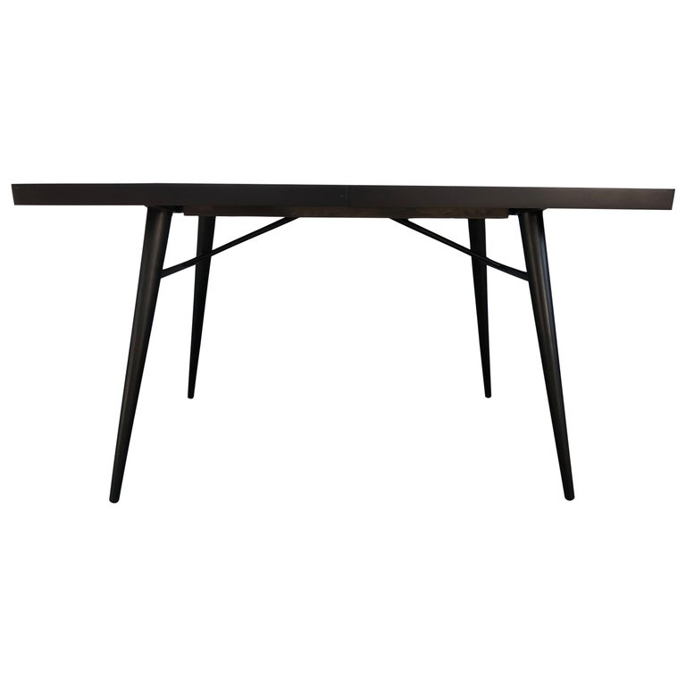 Original Paul McCobb Planner Group Maple #1522 Black Dining Table For Sale