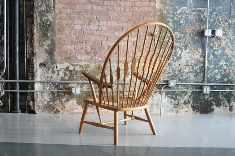 Danish Original Peacock Lounge Chair by Hans J Wegner for Johannes Hansen Denmark For Sale