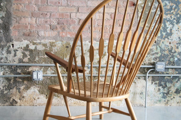 Oiled Original Peacock Lounge Chair by Hans J Wegner for Johannes Hansen Denmark For Sale