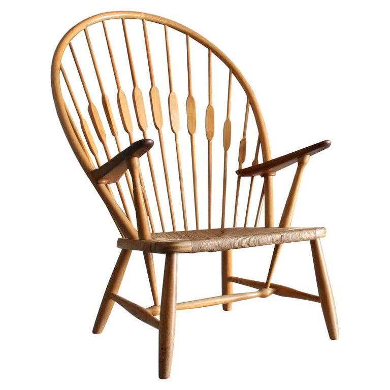 Original Peacock Lounge Chair by Hans J Wegner for Johannes Hansen Denmark For Sale