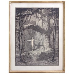 Original Pen & Ink Illustration from the Four Oaks Series by Beatrice Stevens