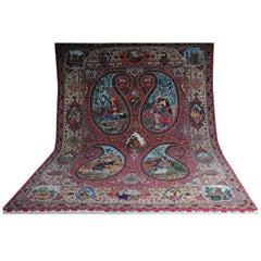 Original Persian Palace Carpet Tabriz Cork Wool with Silk
