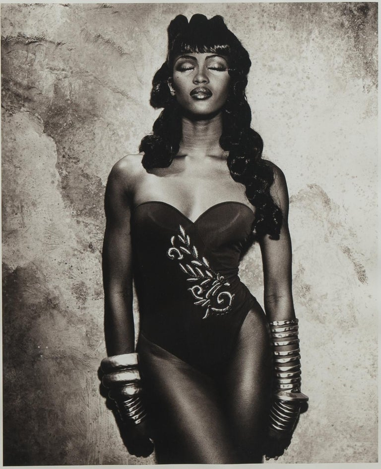 Modern Original Photograph of Naomi Campbell by Karl Lagerfeld For Sale