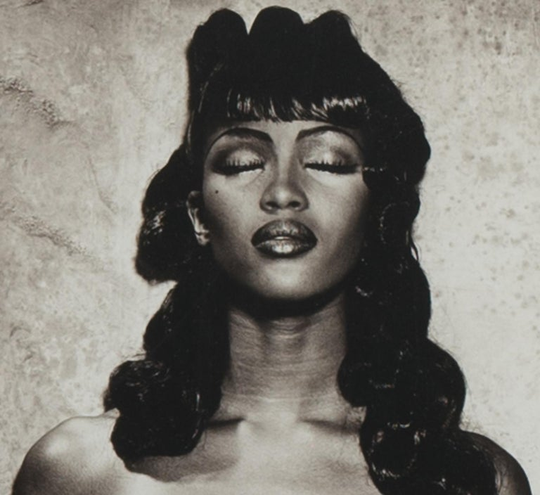 French Original Photograph of Naomi Campbell by Karl Lagerfeld For Sale