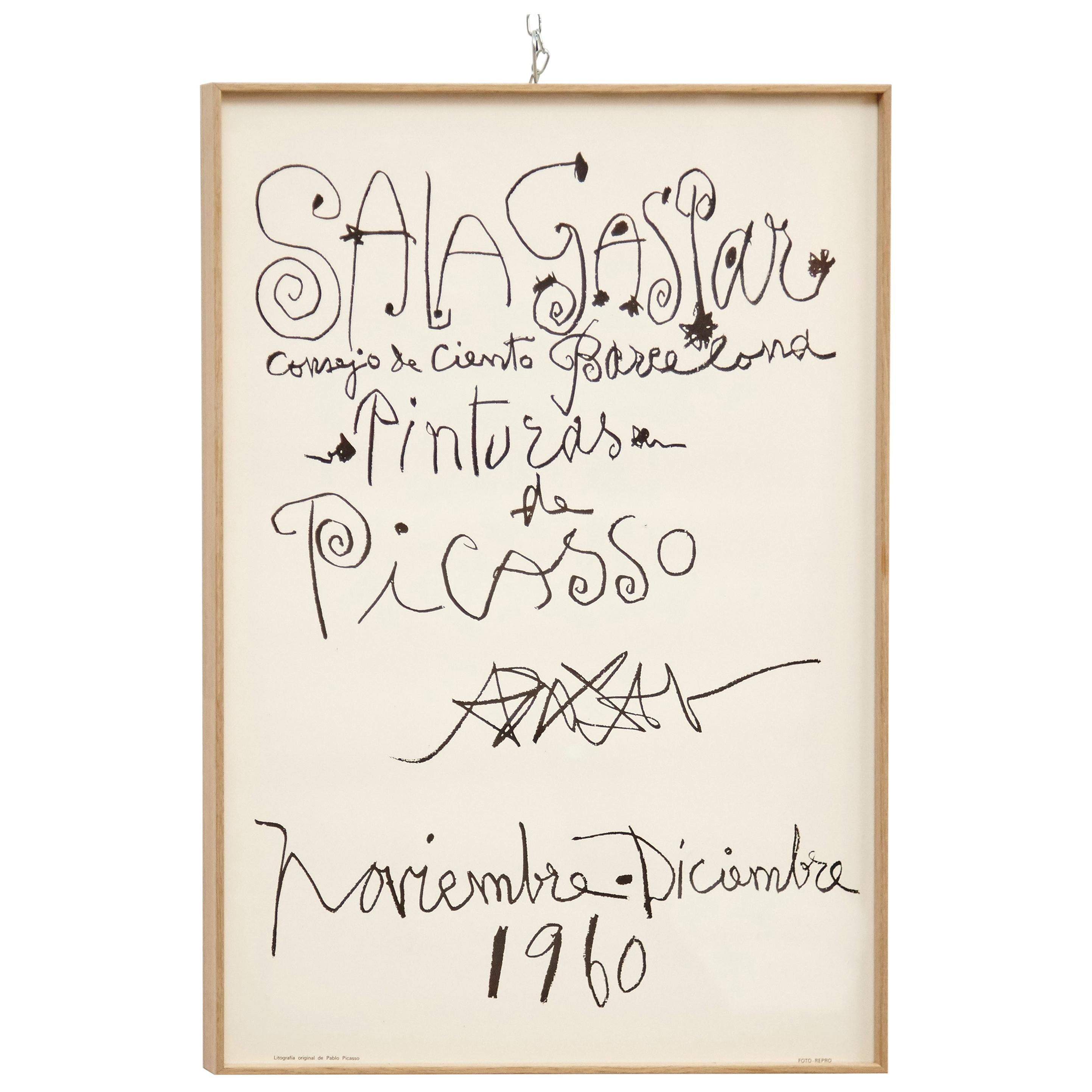 Original Picasso Lithography, Drawings Exhibition, 1960