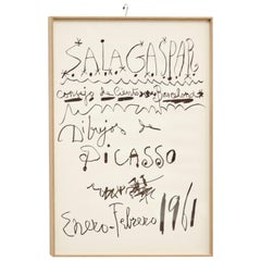 Original Picasso Lithography, Drawings Exhibition, 1961