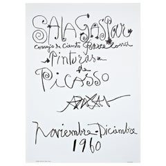 Original Picasso Lithography, Painting Exhibition, 1960