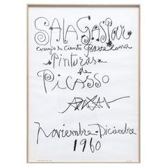 "Original Picasso Lithography, ""Pinturas de Picasso"" Exhibition, 1960"