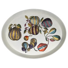 Original Piero Fornasetti Oval Tray, 1950, Italy Signed Fornasetti Sticker