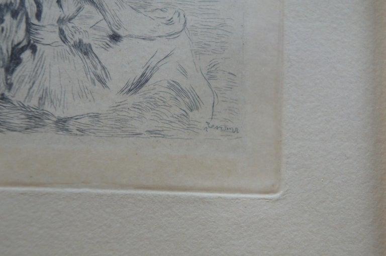 Original Pierre Auguste Renoir Sur la Plage