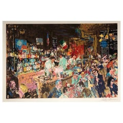 Original 'PJ Clarke's Bar' by LeRoy Neiman, Signed and Numbered, New York, 1978