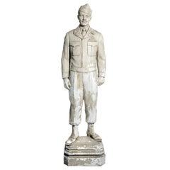 Original Plaster Artists Model for Larger Bronze Statue