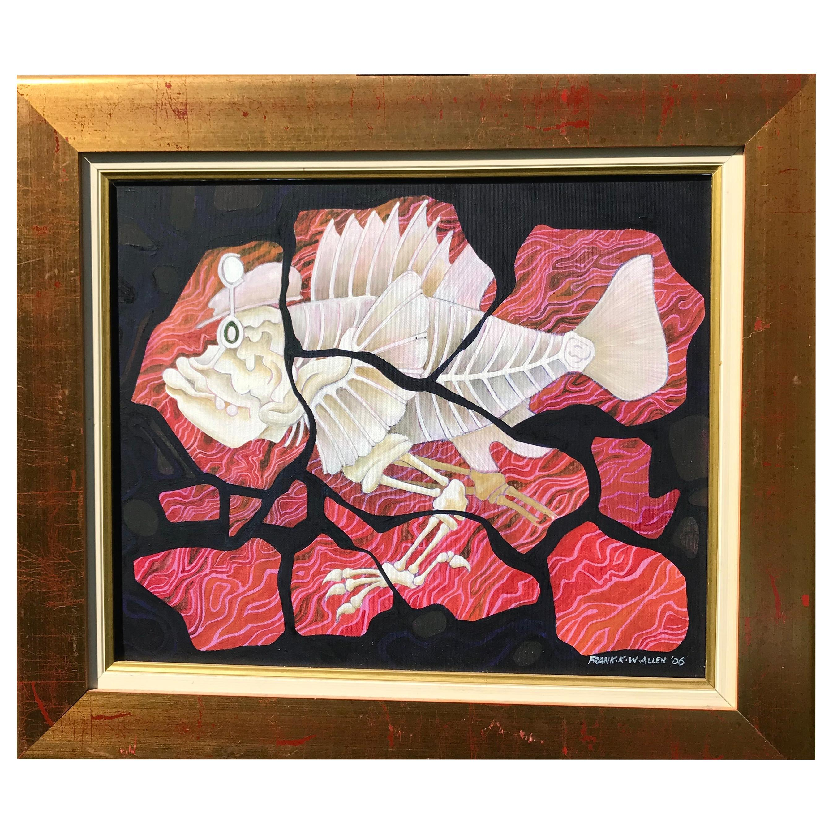 Original 'Poisson qui Marche' Contemporary Painting by Frank Kay Wenham Allen