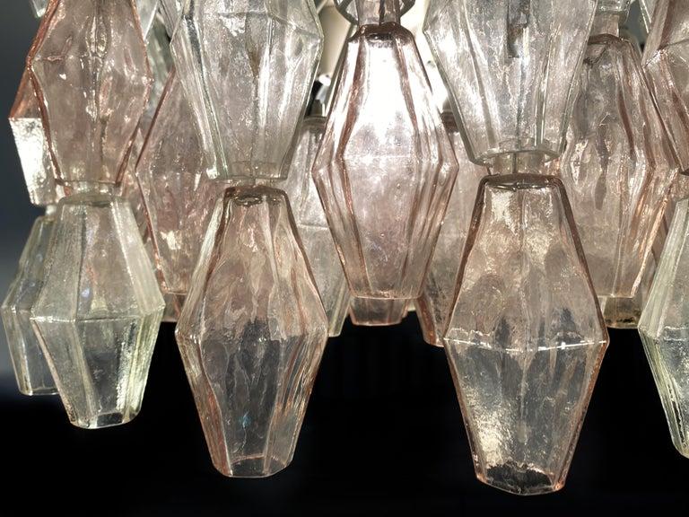 20th Century Original Poliedri Chandelier by Carlo Scarpa for Venini, Murano, 1960s For Sale