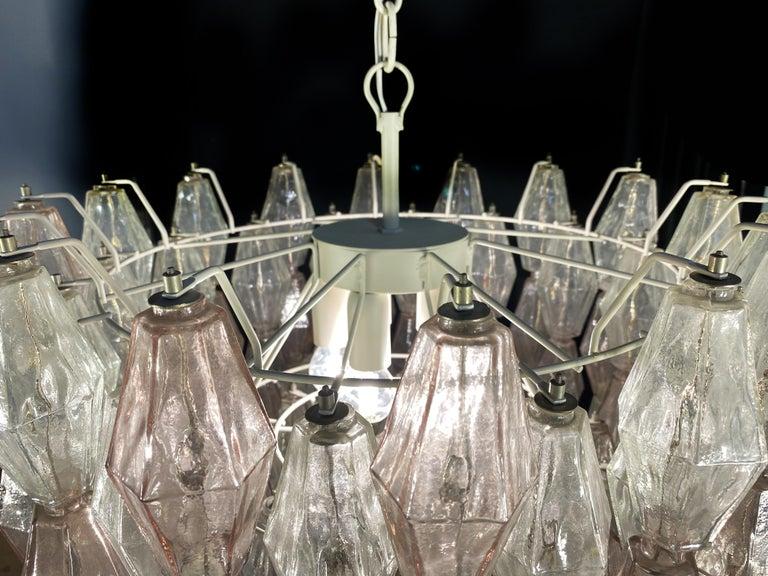 Original Poliedri Chandelier by Carlo Scarpa for Venini, Murano, 1960s For Sale 1