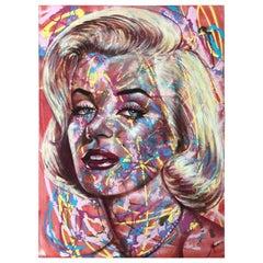 Original Pop Art Painting Marilyn Monroe by Celebrity Artist Maya Spielman
