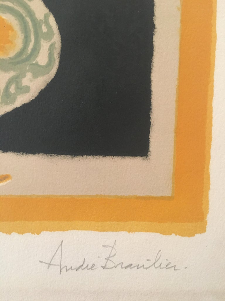 Original poster by Andre Brasilier, 'The Italian Vase' signed & numbered  This poster is signed by the artist, Andre Brasilier, and it is printed onto fine paper. It is also a numbered edition of 150 (143/150) André Brasilier is a French painter