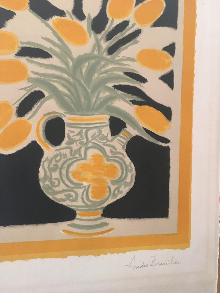 Original Poster by Andre Brasilier, 'The Italian Vase' Signed & Numbered In Good Condition For Sale In Melbourne, Victoria