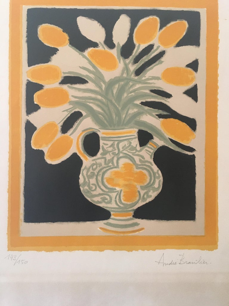 Late 20th Century Original Poster by Andre Brasilier, 'The Italian Vase' Signed & Numbered For Sale