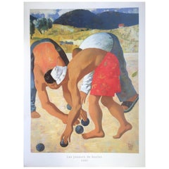Original Poster by Gabo, Men Playing Petanque in Provence