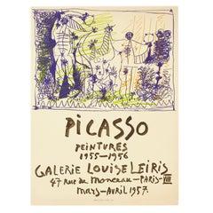 Original poster: Picasso Peintures 1955-1956, Galerie Louise Leiris, Paris
