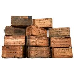 Original Printed Storage Crates, 20th Century