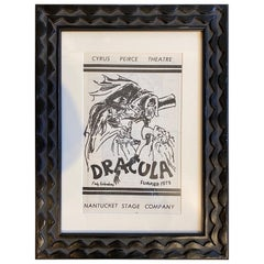 Original Program for Nantucket Stage Production Dracula, Signed by Edward Gorey