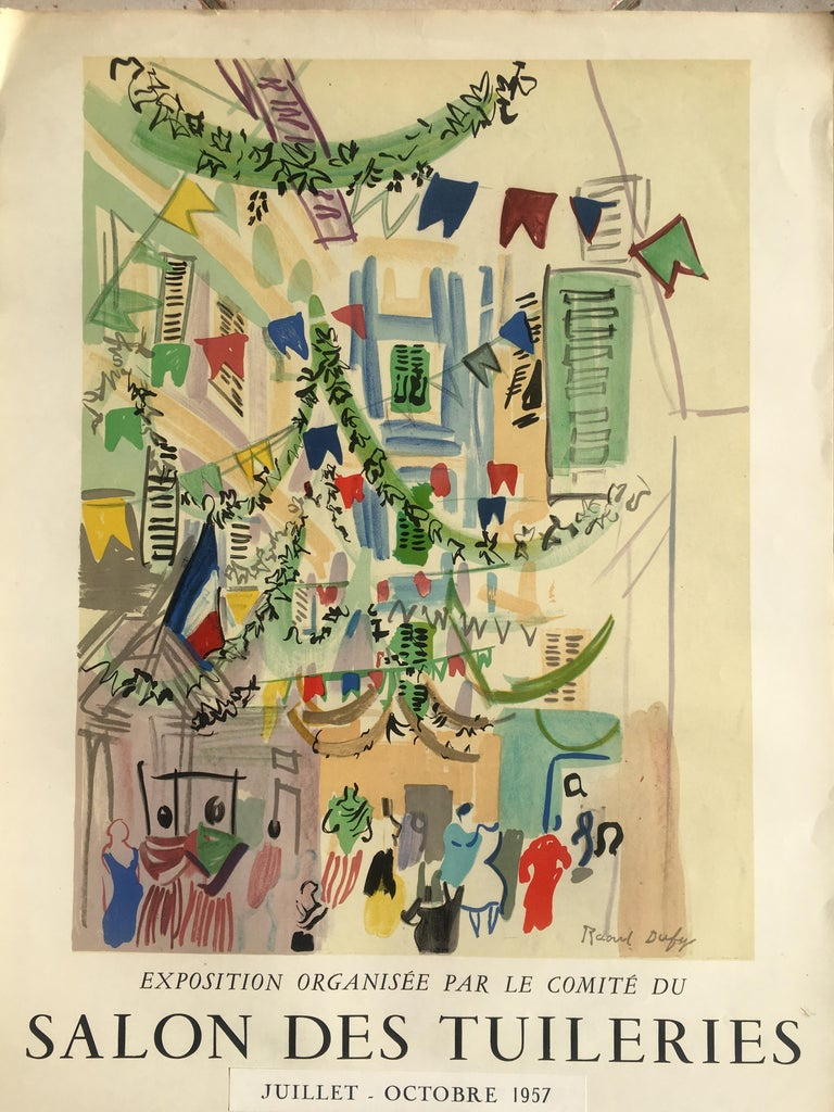 Mid-Century Modern Original Raoul Dufy Mourlot Art Poster, Extended Exhibition Date