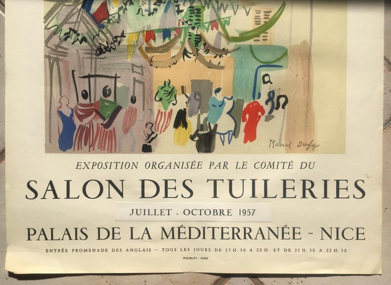 French Original Raoul Dufy Mourlot Art Poster, Extended Exhibition Date