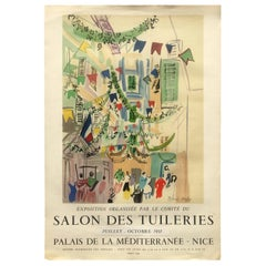 Original Raoul Dufy Mourlot Art Poster, Extended Exhibition Date