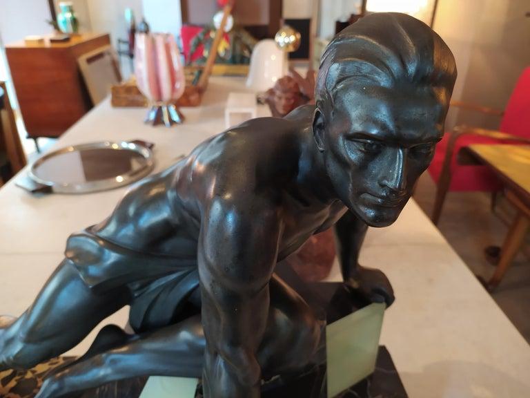 Original Rare Art Deco French Sculpture, 1930s In Excellent Condition In Milan, IT