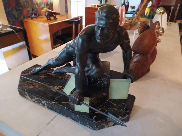 Bronze Original Rare Art Deco French Sculpture, 1930s